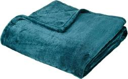 "Northpoint Cashmere Plush Velvet Throw, Teal, 50"" x 60"", New"
