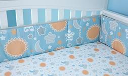 NoJo Unicorn 4 Piece Nursery Crib Bumper