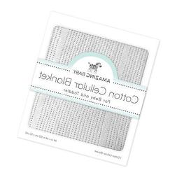 Amazing Baby Cellular Blanket, Premium Cotton, Pastel Sterli