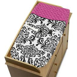 Sweet Jojo Changing Table Pad Cover for Black White Pink Isa