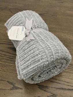 Pottery Barn Kids Chenille Metallic Baby Stroller Blanket Gr