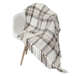 Softan Chenille Woven Throw Blanket with Decorative Fringe a