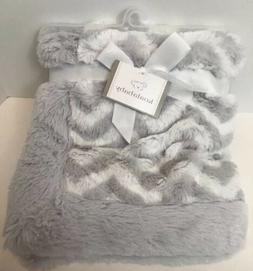 Koala Baby Chevron Blanket Gray White Plush Soft Security Lo