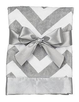 "Bearington Baby Chevron Snuggle, Blanket  28.5"" X 28.5"""