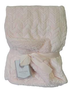 Chevron Velvet Berber Baby Blanket