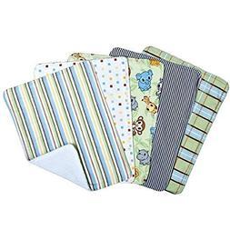 Chibi Zoo 5 Pack Burp Cloth Bundle Box Set