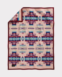 Pendleton Chief Joseph Crib Blanket, Pink