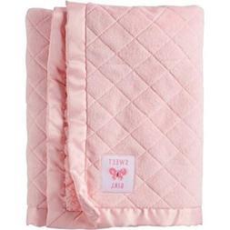 Child of Mine Newborn Quilted Baby Blanket, Pink
