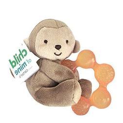Child of Mine Soft Monkey Plush with Teething Ring