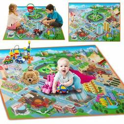 Children Kids Baby Crawling Blanket Carpet Rug City Life Lea