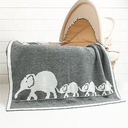 Luerme Baby Knitted Blanket Throws Newborn Crochet Quilt Rec