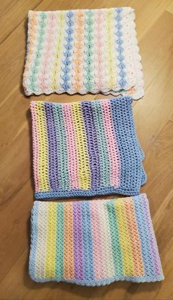 Choice NEW Handmade Crocheted Baby Blankets for Girl or Boy