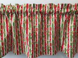 Christmas Peppermint Candy Stripes Snowflakes Handmade Valan
