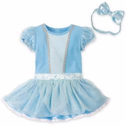 Disney Cinderella Baby Costume & Headband Girls Size 0 3 6 9