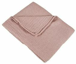Fennco Styles Classic Knitted Solid Colored Baby Throw Blank