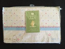 Disney Classic Pooh crib dust ruffle skirt - Polka Dot