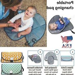 Clean Hands Changing Pad Portable Baby 3in1 Cover Mat Foldin