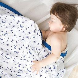 CLERANCE Sale Muslin Stroller Blanket - Starry Sky Print Bam