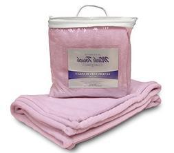 NorthEast Fleece Cloud Mink Touch Baby Blanket, Pastel Pink