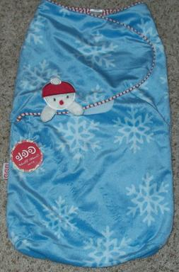 CoCoLa Baby 0-3M SWADDLE BLANKET Snowman NWT Unisex