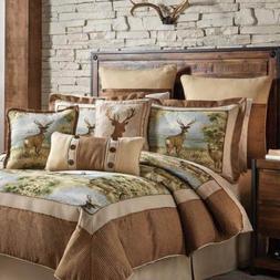 Croscill Cold Springs Queen Comforter 4 pc. Set & 2 Pillows