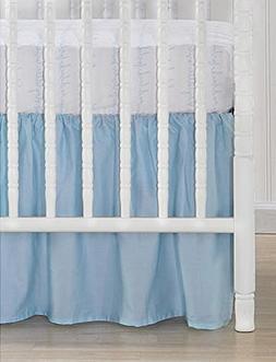 CoCaLo Collection Aqua Blue Cotton Sateen Dust Ruffle