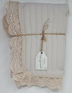 Little Dandelion Collection Baby Quilt Blanket, Color: Stone