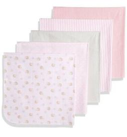 Rene Rofe Baby Baby Collection 5-Pack Flannel Blankets, Pink