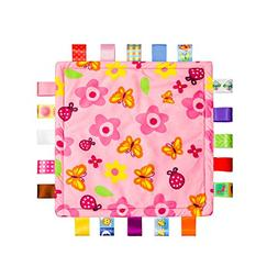 Colorful Ribbons Baby Taggy Blanket Comforter appese towel,
