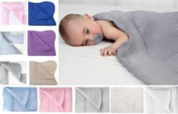 "Comfortable Baby Crib Quilt 100% Cotton 36"" x 48"" Quality Bl"