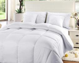 Comforter Duvet Insert White Quilted Down Alternative Box De
