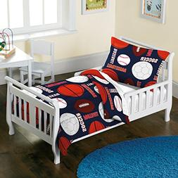 Dream Factory All Sports Comforter Set, Toddler, Navy