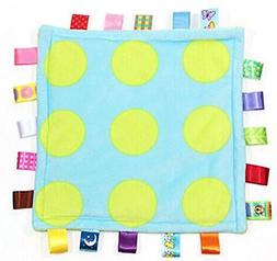 Comforting Generic Polka Dot Baby Blanket with satin tags