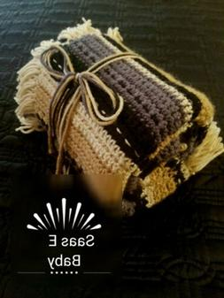Comfy-Striped-Baby-Afghan-Blanket-Throw-Quality-Handmade Wit