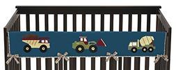 Sweet Jojo Designs Construction Zone Trucks Long Front Rail