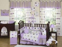 Sweet Jojo Designs Contemporary Purple and Brown Modern Polk