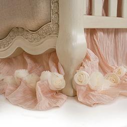 Glenna Jean Crib Skirt Contessa Dust Ruffle for Baby Nursery