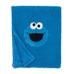 Sesame Street Cookie Monster Blue Soft Plush Sherpa Toddler