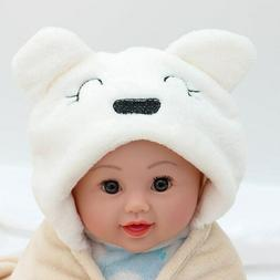 Coral velvet baby wrapped baby hooded cartoon bear bedding b