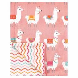 "Hudson Baby Coral with Llamas Reversible Blanket 30"" x 40"" N"