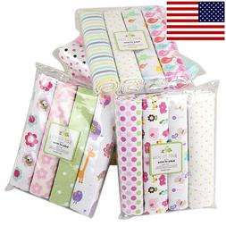 Cotton Baby Blanket Newborn Swaddles Bed Sheet Kit Baby Crib