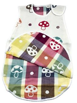 LUXEHOME Cotton Baby Sleep Sack, Sleeping Bag with Cute Mush