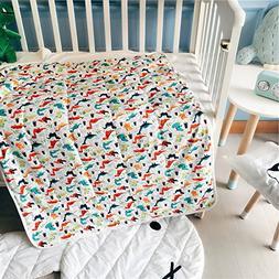 YEVEM 100% Cotton Baby Toddler Nursery Cartoon Summer Comfor