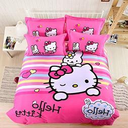 CASA 100% Cotton Brushed Kids bedding Hello Kitty Duvet Cove