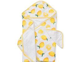 Little Unicorn Cotton Hooded Towel & Wash Cloth Set - Lemon