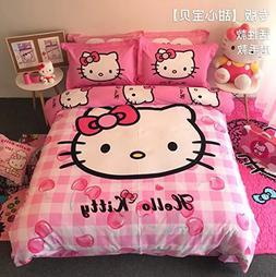 Casa 100% Cotton Kids Bedding Set Girls Hello Kitty The Firs