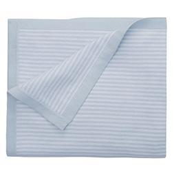 Elegant Baby Premium 100% Cotton Knit Blanket, Mini Blue Str