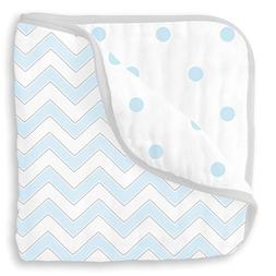 SwaddleDesigns 4-Layer Cotton Muslin Luxe Blanket, Cuddle an