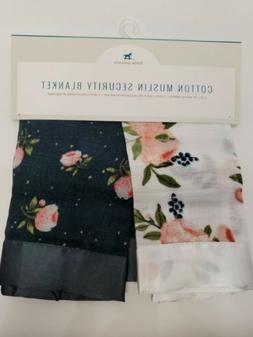 "Little Unicorn Cotton Muslin Security Blanket  16""x16"" - Nav"