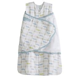 HALO 100% Cotton Muslin Sleepsack Swaddle, Gator Plaid, Smal